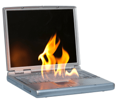 Dell Laptop on Fire