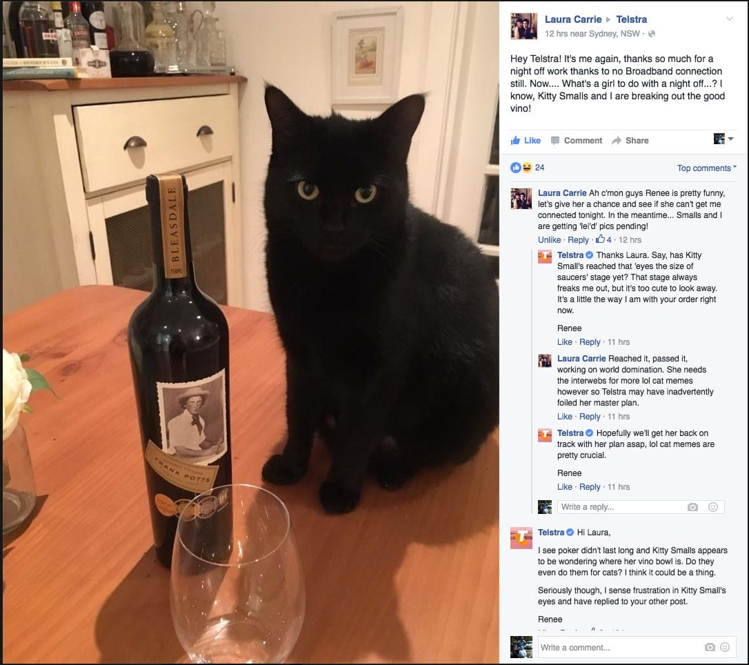 Kitty Smalls Vs Telstra Part 2 - Vino for Kitty