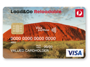 Australia Post Load and Go Reloadable Prepaid Visa Card